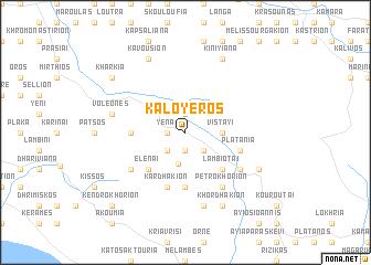 map of Kalóyeros