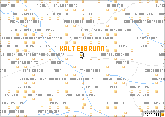 map of Kaltenbrunn