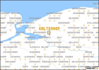 map of Kaltenhof