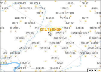 map of Kaltenhof
