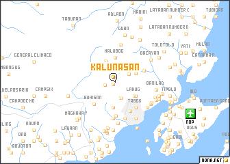 map of Kalunasan