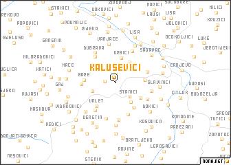 map of Kaluševici