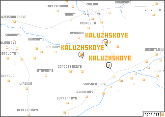map of Kaluzhskoye