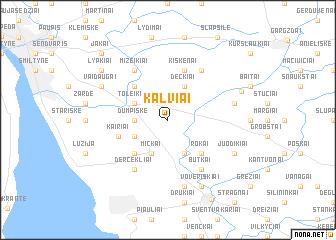 map of Kalviai