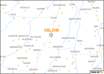 map of Kalviai