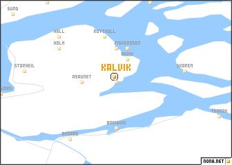 map of Kalvik