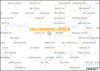 map of Kalwaria Pacławska