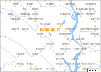 map of Kama-kalit