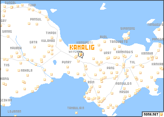 map of Kamalig