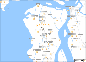 map of Kamanin