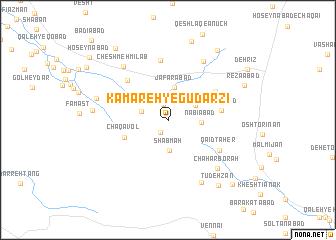 map of Kamareh-ye Gūdarzī