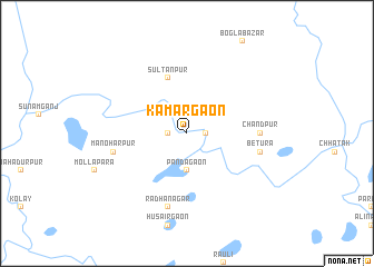 map of Kāmārgaon