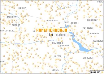 map of Kamenica Donja