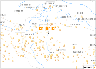 map of Kamenica