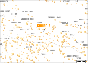 map of Kameniš