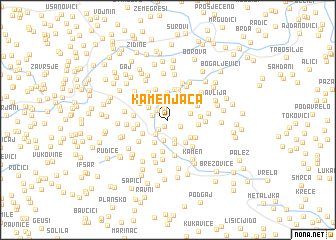 map of Kamenjača