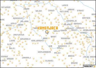 map of Kamenjača