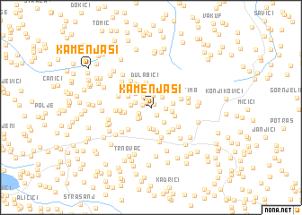 map of Kamenjaši