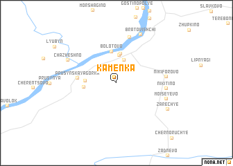 map of Kamenka