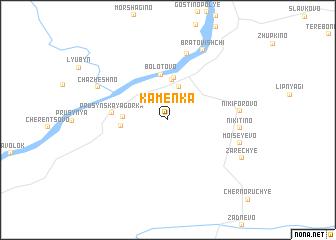 map of Kamenka