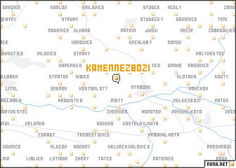 map of Kamenné Zboží
