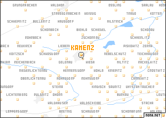 map of Kamenz
