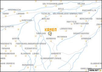 map of Kamen'