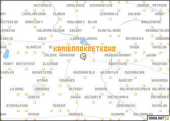 map of Kamienna Kretkowo