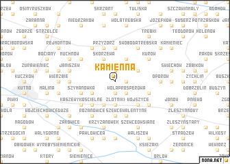 map of Kamienna