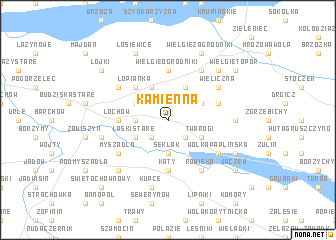 map of Kamienna