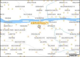 map of Kamion Duży
