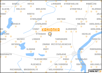 map of Kamionka