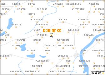 map of Kamionka