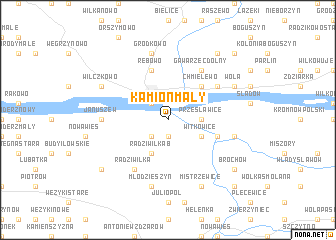 map of Kamion Mały