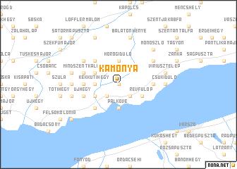 map of Kamonya