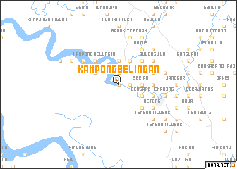 map of Kampong Belingan