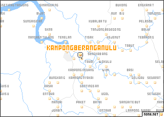 map of Kampong Berangan Ulu
