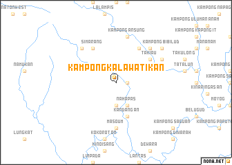 map of Kampong Kalawatikan