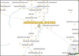 map of Kampong Kuala Kenas