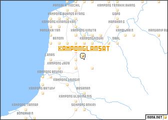 map of Kampong Lansat