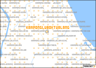 map of Kampong Lubok Tualang