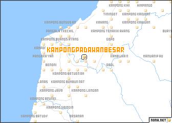 map of Kampong Padawan Besar