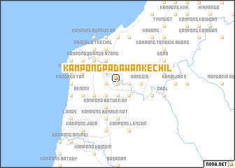 map of Kampong Padawan Kechil