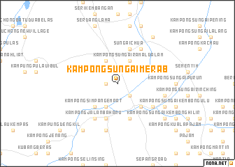 map of Kampong Sungai Merab