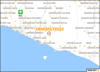 map of Kampong Tasek