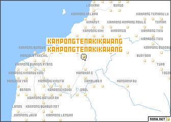 map of Kampong Tenaki Kawang