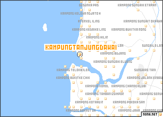 map of Kampung Tanjung Dawai