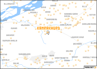 map of Kāmra Khurd