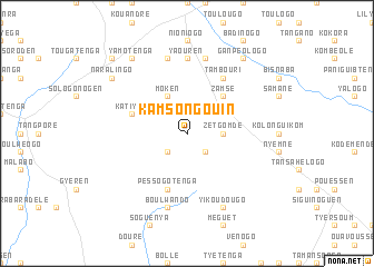 map of Kamsongouin