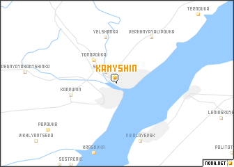 map of Kamyshin